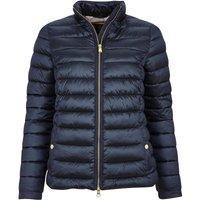 Barbour Womens Grange Quilted Jacket Navy/Olive Mist Tartan 18