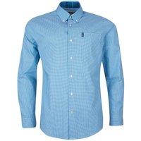 Barbour Mens Gingham 23 Tailored Shirt Aqua Medium