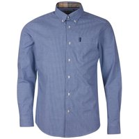 Barbour Mens Gingham 23 Tailored Shirt Inky Blue Large