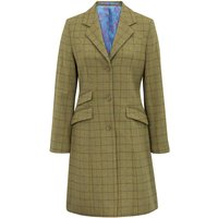 Alan Paine Womens Combrook Tweed Mid Length Coat Aspen 16