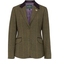Alan Paine Womens Combrook Tweed Blazer Heather 14