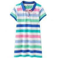 Crew Clothing Girls Polo Stripe Dress Multi 6-7