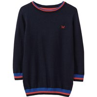 Crew Clothing Boys Foxley Crew Neck Tipped Jumper Patriot Blue 6-7
