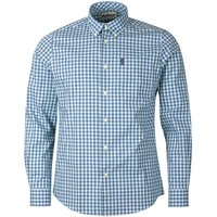Barbour Mens Gingham 22 Tailored Shirt Green Large