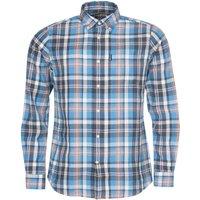 Barbour Mens Madras 10 Tailored Shirt Mid Blue XXL