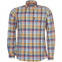 Barbour Mens Madras 10 Tailored Shirt Rust Large