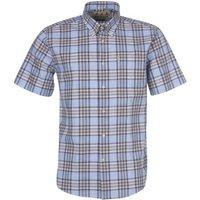 Barbour Mens Highland 26 Regular Shirt Stone Medium