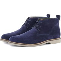Barbour Mens Consett Chukka Boots Ink Blue 9