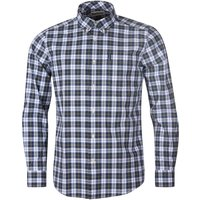 Barbour Mens Highland Check 28 Tailored Shirt Olive Large
