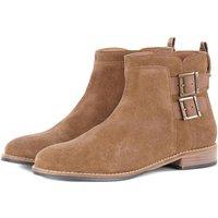 Barbour Womens Cornbury Boots Cognac Suede 7