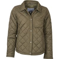 Barbour Womens Blue Caps Quilted Jacket Dusky Green 12
