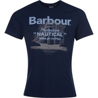 Barbour Mens Vessel Tee Navy Large