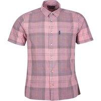 Barbour Mens Tartan 17 S/S Summer Shirt Faded Pink XL