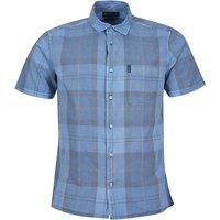 Barbour Mens Tartan 17 S/S Summer Shirt Pigment Blue Medium
