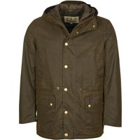 Barbour Mens Ripon Wax Parka Olive Small