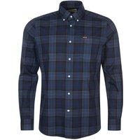 Barbour Mens Wetherham Tailored Shirt Midnight Tartan Large