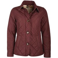 Barbour Womens Forth Quilted Jacket Dark Plum/Hessian Tartan 12