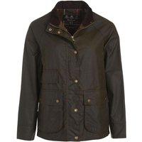 Barbour Womens Lochranza Wax Jacket Olive/Classic 12