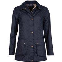 Barbour Womens Fiddich Wax Jacket Navy/Dress 14
