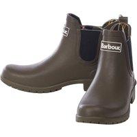 Barbour Womens Wilton Wellington Boots Olive 3