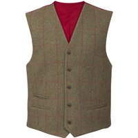 Alan Paine Mens Combrook Lined Back Waistcoat Sage Medium
