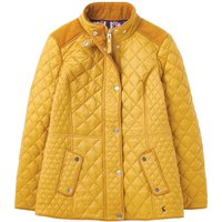 Joules Womens Newdale Quilted Coat Caramel 12