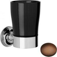 Samuel Heath Style Moderne Tumbler Holder Black Ceramic N6635B Country Bronze