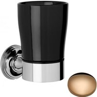 Samuel Heath Style Moderne Tumbler Holder Black Ceramic N6635B Antique Gold