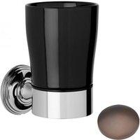 Samuel Heath Style Moderne Tumbler Holder Black Ceramic N6635B City Bronze