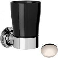 Samuel Heath Style Moderne Tumbler Holder Black Ceramic N6635B Polished Nickel