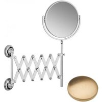 Samuel Heath Style Moderne Extending Mirror L6708 Brushed Gold Unlacquered