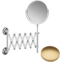 Samuel Heath Style Moderne Extending Mirror L6708 Brushed Gold Matt