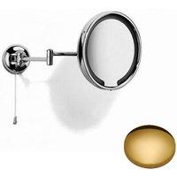 Samuel Heath Novis Double Arm LED Illuminated Magnifying Pivotal Mirror Polished Brass
