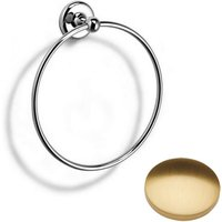 Samuel Heath Novis Towel Ring N1098 Brushed Gold Gloss Large