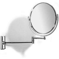 Samuel Heath Novis Double Arm Pivotal Mirror Plain/Magnifying L114 Chrome Plated
