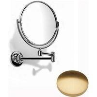 Samuel Heath Novis Double Arm Pivotal Mirror Plain / Magnifying L115 Brushed Gold Gloss
