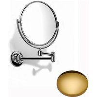 Samuel Heath Novis Double Arm Pivotal Mirror Plain / Magnifying L115 Polished Brass