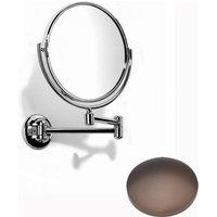 Samuel Heath Novis Double Arm Pivotal Mirror Plain / Magnifying L115 City Bronze