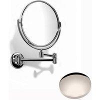 Samuel Heath Novis Double Arm Pivotal Mirror Plain / Magnifying L115 Polished Nickel