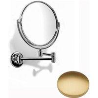 Samuel Heath Novis Double Arm Pivotal Mirror Plain / Magnifying L115 Brushed Gold Matt