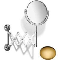 Samuel Heath Curzon Extending Mirror Plain / Magnifying L110 Polished Brass