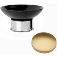 Samuel Heath Style Moderne Freestanding Black Ceramic Soap Holder N6664B Brushed Gold Matt
