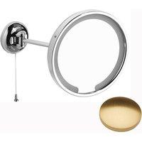 Samuel Heath Novis Single Arm LED Illuminated Magnifying Pivotal Mirror N509-3 Brushed Gold Gloss