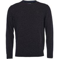 Barbour Mens Essential Lambswool Crew Neck Sweater Charcoal Medium