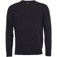 Barbour Mens Essential Lambswool Crew Neck Sweater Charcoal XL