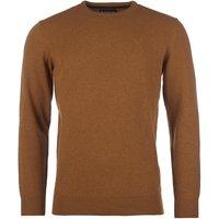 Barbour Mens Essential Lambswool Crew Neck Sweater Dark Copper Medium