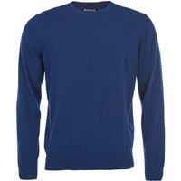 Barbour Mens Essential Lambswool Crew Neck Sweater Deep Blue Medium