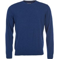 Barbour Mens Essential Lambswool Crew Neck Sweater Deep Blue Large