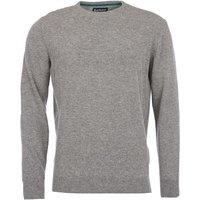 Barbour Mens Essential Lambswool Crew Neck Sweater Grey Marl Medium