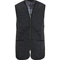 Barbour Mens Quilted Waistcoat Zip-In Liner Black 46